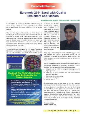Modern Plastics India -Vol.15 | Issue - 12 | January 2015 | Mumbai