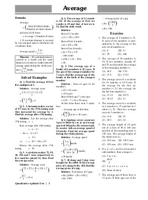 Quantitative Aptitude Test-Sat May 23, 2015