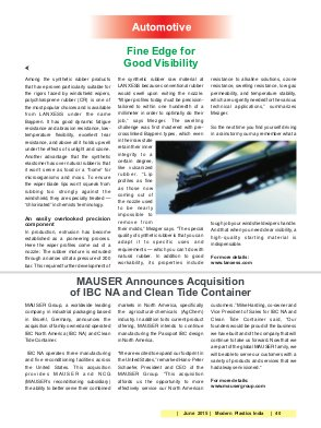 Modern Plastics India -Vol.16 | Issue 5 | June 2015 | Mumbai
