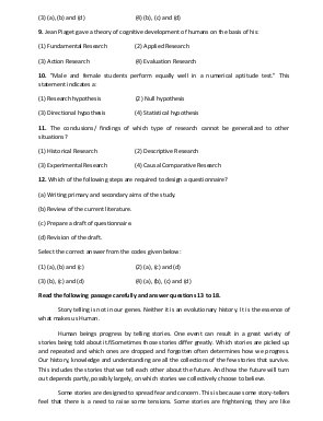 UGC-UGC (NET) Question Paper June 2015: Teaching & Research Aptitude (Paper I)