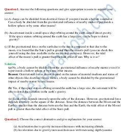 CBSE-Gravitation CBSE Class 11 NCERT Solution