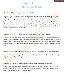 CBSE-The Living World CBSE Class 11 NCERT Solution