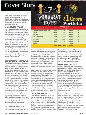 Dalal Street Investment Journal-Dalal Street Investment Journal 15 November, 2015 Vol. 30, Issue. No.24