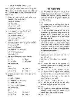 UGC NET/JRF Pariksha Solved Papers Sharirik Shiksha-Fri Nov 06, 2015