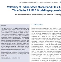 International Journal of Financial Management-Volatility of Indian Stock Market and FIIs: A Time Series ARIMA Modeling Approach