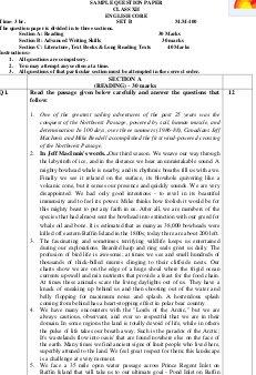 CBSE-CBSE Class 12 English (Core) Sample Paper: 2016