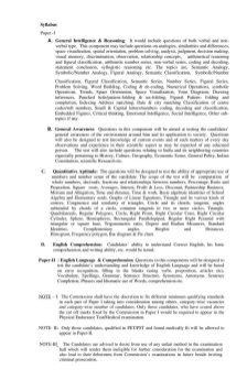 SSC-Syllabus for the Recruitment of SI in Delhi Police CAPFs & ASI in CISF Exam 2016