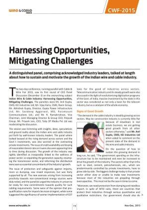 Wire & Cable India-Nov-Dec, 2015