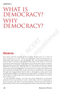 IAS-PCS-What is Democracy? Why Democracy?