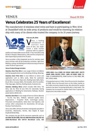 Wire & Cable India-Jan-Feb, 2016