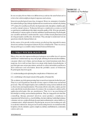 IAS-PCS-PSYCHOLOGY: UNDERSTANDING SELFAND OTHERS