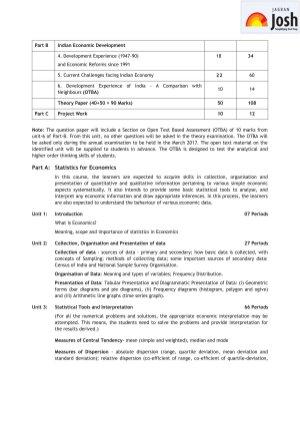 CBSE-CBSE Class 11 Economics Syllabus 2016 – 2017
