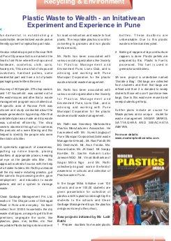 Modern Plastics India -Vol.17  | Issue - 05 | June  2016 | Mumbai