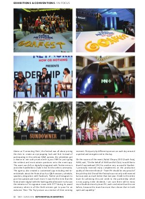Experiential Marketing-May - June 2016