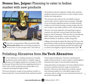 Stone & Tiles in India-Vol 1 No.3, Feb-Mar, 2013