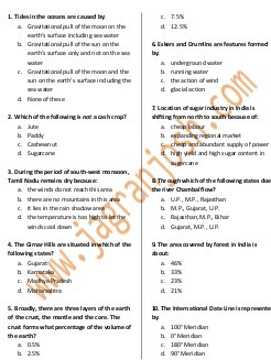 SSC-Geography GK capsule SSC CGL 2016 Practice Set