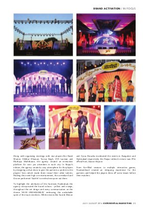 Experiential Marketing-JULY / AUGUST 2016