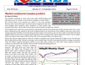 MONEY TIMES-Monday, 19 - 25 Sept 2016