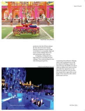 Experiential Celebrations-WINTER / 2012