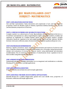 Engineering-JEE-MAIN-2017-Syllabus_Mathematics