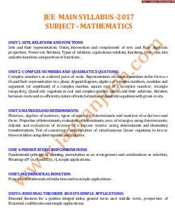 Engineering-JEE-MAIN-2017-Syllabus_Mathematics